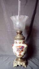 LAMPE A PETROLE GIEN ? XIXème OLD OIL LAMP 19TH