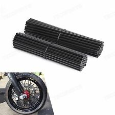Black Spoke Wraps Covers Fit 17~21 Inches Wheel Dirt Bikes MX Enduro Supermoto