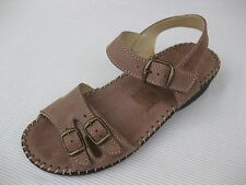 La Plume Womens Shoes NEW $90 Jupiter Lt. Brown Leather Sandal Italy 39 8.5