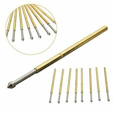 50pcs PCB Bare Board Spring Loaded Test Probe Pin P100 E2 180g 1.36mm Diameter