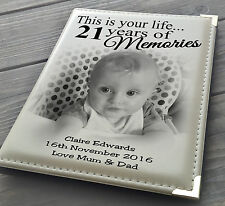 """Guestbook signing book personalised photo album 7x5"""" x 36 21st birthday present."""