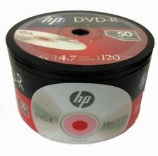 100-Pack HP 16X Logo Blank DVD-R DVDR Recordable Disc Media 4.7GB Shrink Wrapped
