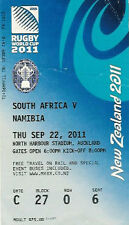 Sud Africa V Namibia 2011 RUGBY WORLD CUP TICKET pool D MATCH no22