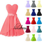 New Chiffon Short Formal Prom Party Cocktail Gown Evening Bridesmaid Dress Stock