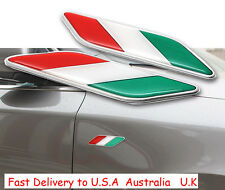 2X Decal Metal Emblem Badge Car Auto Fender Side Skirt Sticker For Italy Flag