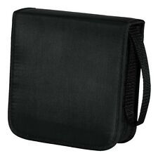 Hama 40 CD / DVD Wallet Storage Carry Case Nylon Black BRAND NEW 033831