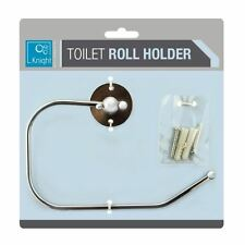Wall Mounted Chrome Roll Ring Holder Bathroom Accessory Kitchen Cloth Fixings