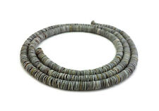 Grey Oyster Shell Heishi Beads (4 - 5 mm / 24 Inches Strand)