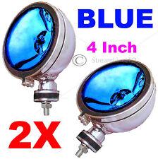 """PAIR 2X 12V 4"""" Inch BLUE Angeleye Halogen Car 4x4 Spotlight Spot Fog Light Lamp"""