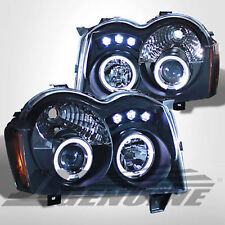 LED DUAL HALO PROJECTOR HEADLIGHTS BLACK - JEEP GRAND CHEROKEE 05-07