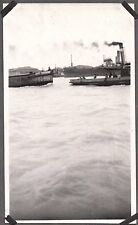 VINTAGE 1925-35 CHINESE TUG BOAT TOW SHIP CHEFOO HONG KONG SHANGHAI CHINA PHOTO