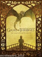 GAME OF THRONES THE COMPLETE FiFTH SEASON BOX SET DVD SERIES 5 REGION 2 UK NEW