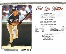 "Paul Molitor ~Minnesota Twins - Hall of Fame Supercard 8"" x 10"""