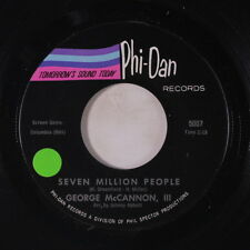 GEORGE MCCANNON, III: Seven Million People 45 (sm tol) rare Soul