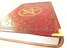 GRANDE LIBRO DELLE OMBRE marrone in pelle in rilievo Diario Giornale Notebook Stella Celtica