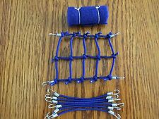 (New Item) BLUE 4x3 Inches Scale Roof Net + 6 Bungee Cords +Sleeping Bag