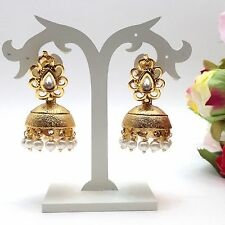 Indian Asian Bridal Jewellery Bollywood Ethnic Wear Jhumka Earrings Length:1.8""