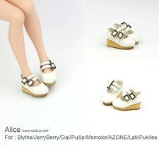 Alice shoes_White for Blythe / DAL / Pullip / Momoko/ Lati_y/Pukifee