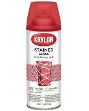 Krylon K09026000 Stained Glass Spray Paint, 11.5 Oz, Cranberry Red