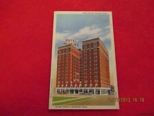 Postcard-Linen-USA-Texas-Hotel Herring, Amarillo, Texas-Largest Hotel in NW TX