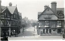 St Edward Street Leek RP old postcard used about 1920's