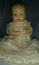 "Old 13"" antique vintage composition cloth Petite America's Wonder Baby Doll"