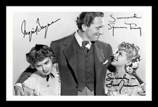 SPENCER TRACY & INGRID BERGMAN & LANA TURNER SIGNED & FRAMED PP POSTER PHOTO