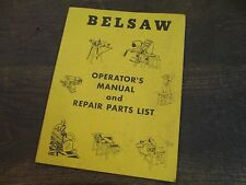 Belsaw Sharp-All Operator's Manual & Parts List /    FA 178