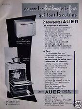 PUBLICITÉ 1950 AUER LA ROSE DES VENTS CUISINIÈRE-BLOC 4 FEUX GAZ - ADVERTISING