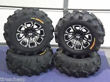 "POLARIS SPORTSMAN 570 25"" EXECUTIONER ATV TIRE & WHEEL KIT SS3 LIFETIME WARRANTY"