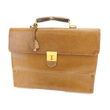 Auth Vintage Gucci Business Bag with logo Plate Men used L980