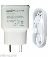 2 in 1 White Mobile Charger USB Power Wall Adapter Samsung Sony Mi Micromax HTC
