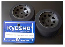 VINTAGE RC Kyosho H-991 1/10 Thunderbird Gas Stock Car Rear Wheels Tires 1pr NIB