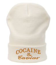 Winter Beanie Hat Bad Hair Day Cocaine&Caviar Wasted Youth YOLO GEEK OVERSIZE NY