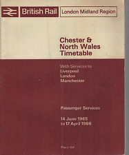 London Midland British Rail Timetable Chester North Wales June 1965 - April 1966