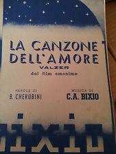 vecchio spartito musicale la canzone dell'amore valzercanto mandolino fisarmonic