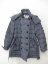 BURBERRY BRIT 'Midallerdale Down Puffer Coat Women Size Large Pewter MSRP $ 995