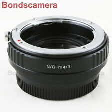 Focal Reducer Speed Booster Nikon F mount G Lens to Micro 4/3 Adapter M43 E-PL7