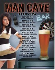 Man Cave Rules Sexy Beer Wall Art Bar Pub Garage Decor Metal Tin Sign New