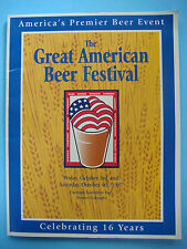 1997 GREAT AMERICAN BEER FESTIVAL Guide ~ Denver GABF Brewery Facts Fest Styles