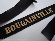BOUGAINVILLE  Marine Ruban légendé de bachi authentique cap tally France
