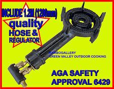 FREE HOSE & REGULATOR NEW 2 RING WOK BURNER BBQ COOKER LPG GAS PORTABLE COOKTOP