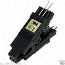 Genuine 3M SOIC 8 pin test clip for SOP EEPROM 24,25,93CXX 24C02 93C46 ICSP US