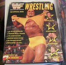 WWF WWE Wrestling Official Book hardcover with dust jacket