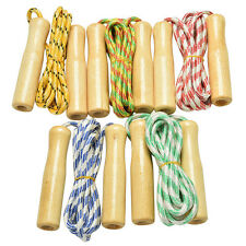 Kids Child Skipping Rope Wooden Handle Jump Play Sport Exercise Workout Toy