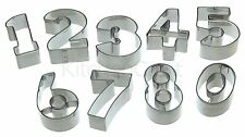 Cookie Pastry Cutter- Number Set- KitchenCraft Numeral for Children Kids
