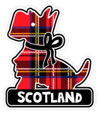 Scottish Car Bumper Window Sticker Decal Vinyl Scotland Tartan Scottie Dog