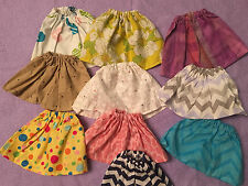 """For 12"""" 13"""" 14"""" Baby Alive Girl Doll CLothes Skirts Handmade Lot of 10pcs"""