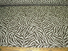 ~4 YDS~TIGER ZEBRA ANIMAL STRIPES~WOVEN UPHOLSTERY FABRIC FOR LESS~