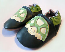 BABY BOYS TURTLE SHOES TRAINERS GREEN NEWBORN TODDLER INFANT SIZE 0-6 MONTHS